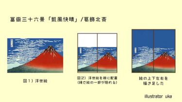 襖紙『富嶽三十六景』