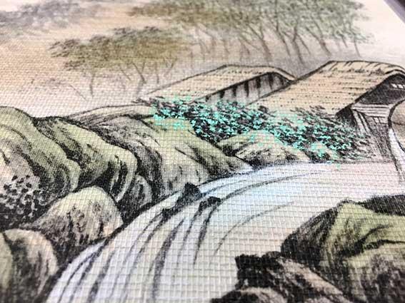 2018年 ハリマニュース創刊号 山水画の織物襖紙
